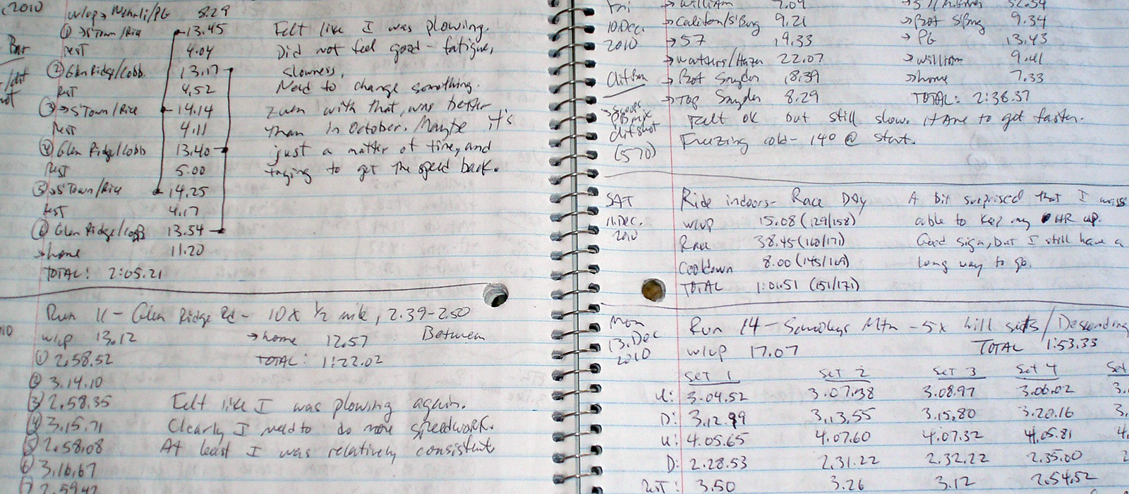 Many runners keep a running diary to keep track of—and hopefully—improve their performance.