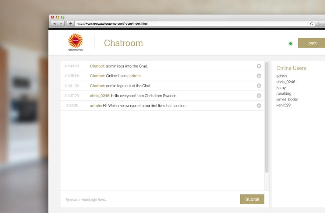 Stora Enso Chatroom