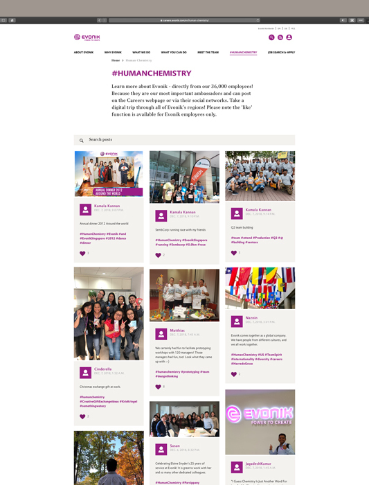 Evonik - career site