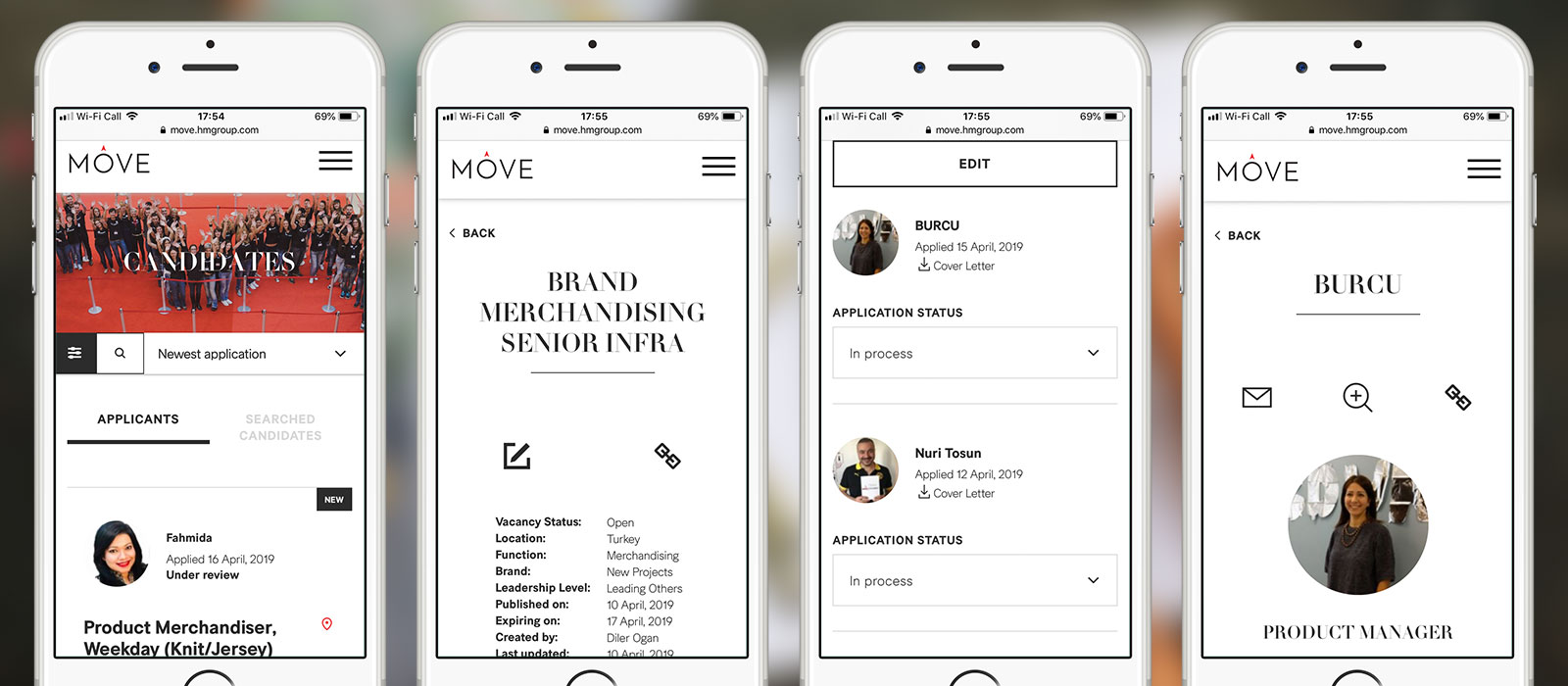Fully mobile responsive, MOVE offers employees the full range of internal career opportunities within the group